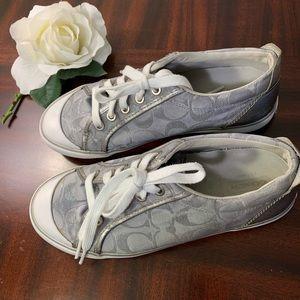 Coach Gray / Silver Barrett Signature C Sneakers